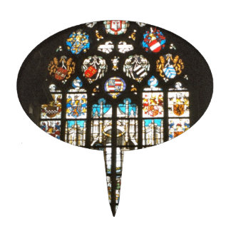 Medieval stained glass window, Holland Cake Toppers