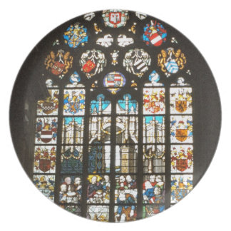 Medieval stained glass window, Holland Dinner Plate