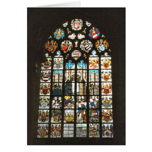 Medieval stained glass window, Holland Greeting Card