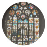Medieval stained glass window, Holland Party Plate