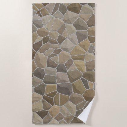 Medieval Stone Beach Towel