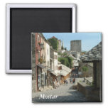 Medieval Street 2 Inch Square Magnet