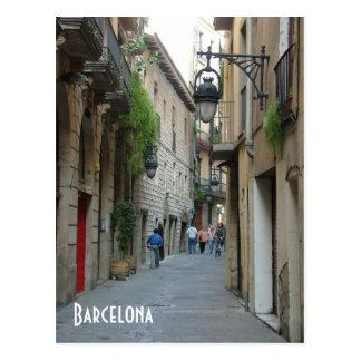 Medieval street postcard