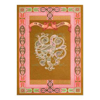 Medieval Style Celtic Patterns Wedding Invites