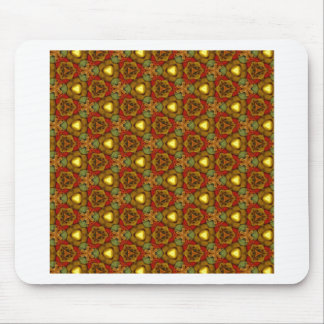 Medieval Style Design Art Deco Pattern Gold Floral Mousepads