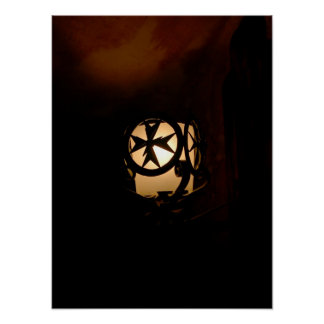 Medieval style lantern from Malta Poster