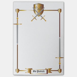 Medieval Sword and Shield Post-it® Notes 4 x 6