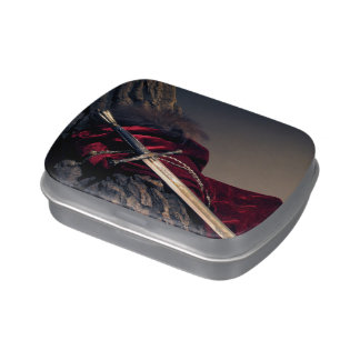 Medieval Sword Candy Tin
