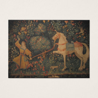 Medieval tapestry - in the forest business card