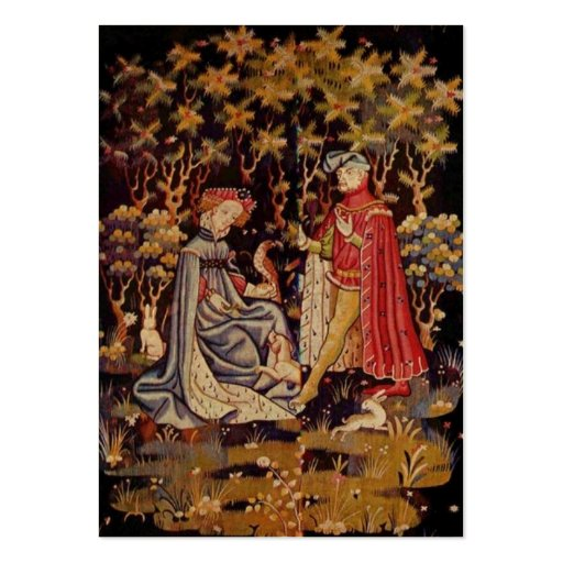 Medieval tapestry lovers business card template
