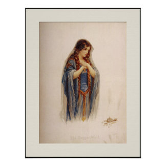 "Medieval ""The Beggar Maid"" Print"