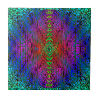 Medieval Time Warp Space Portal to Other World Ceramic Tile
