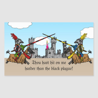 Medieval Times - Love Declaration Rectangular Sticker