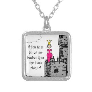Medieval Times - Love Declaration Square Pendant Necklace