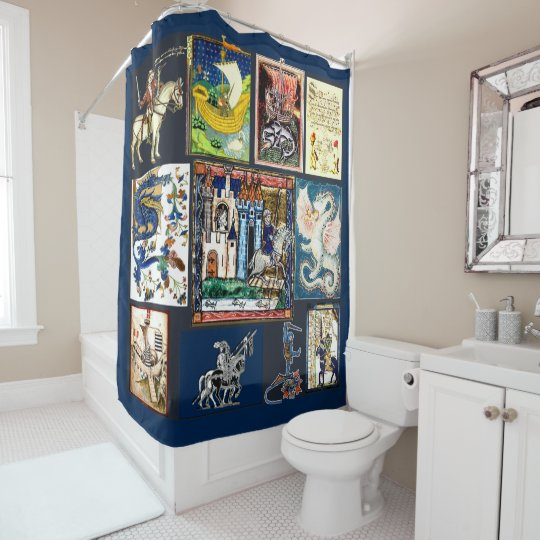 Medieval Times Shower Curtain