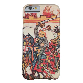 MEDIEVAL TOURNAMENT, FIGHTING KNIGHTS AND DAMSELS BARELY THERE iPhone 6 CASE