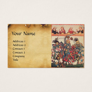 MEDIEVAL TOURNAMENT, FIGHTING KNIGHTS AND DAMSELS BUSINESS CARD