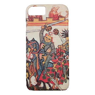 MEDIEVAL TOURNAMENT, FIGHTING KNIGHTS AND DAMSELS iPhone 7 CASE