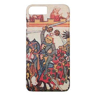 MEDIEVAL TOURNAMENT, FIGHTING KNIGHTS AND DAMSELS iPhone 8 PLUS/7 PLUS CASE