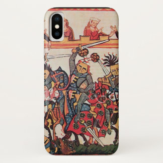 MEDIEVAL TOURNAMENT, FIGHTING KNIGHTS AND DAMSELS iPhone X CASE