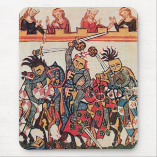 MEDIEVAL TOURNAMENT, FIGHTING KNIGHTS AND DAMSELS MOUSE PAD