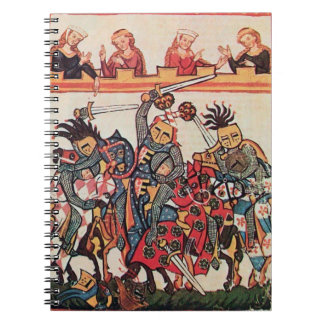 MEDIEVAL TOURNAMENT, FIGHTING KNIGHTS AND DAMSELS NOTEBOOK