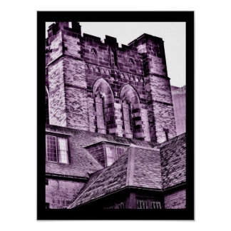 Medieval Tower in Purple Poster