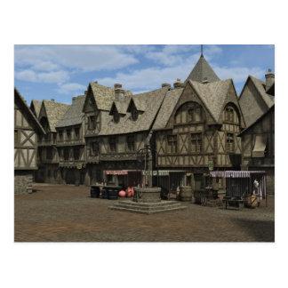 Medieval Town Square Postcard