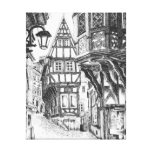 Medieval Townscape Gallery Wrapped Canvas
