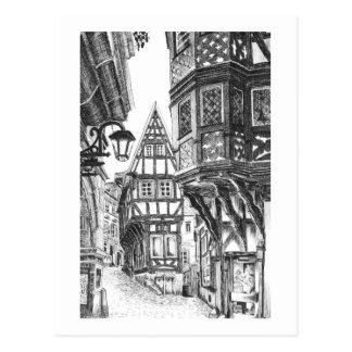 Medieval Townscape Postcard