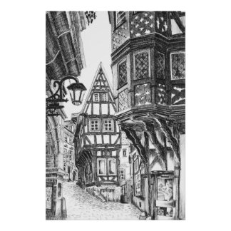 Medieval Townscape Poster
