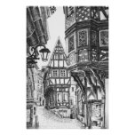 Medieval Townscape Print