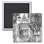 Medieval Townscape Refrigerator Magnet