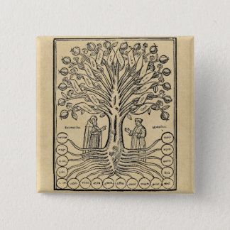 Medieval Tree of the Sciences Button