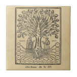 Medieval Tree of the Sciences Small Square Tile