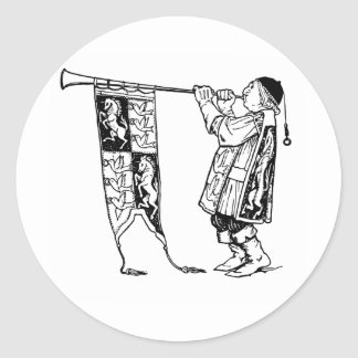 medieval tunics-1 classic round sticker