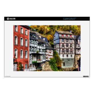 Medieval Village Monschau in Germany Decal For Laptop