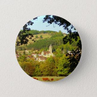 Medieval Village of Plazac Badge Pinback Button