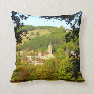 Medieval Village of Plazac Throw Cushion