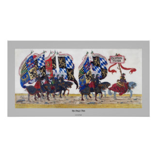 Medieval Warrior Knights Historic Art Poster