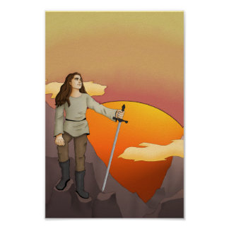 Medieval Warrior Poster