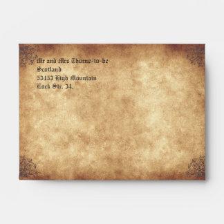 Medieval Wedding Envelope