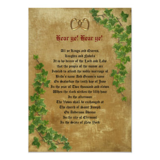 Medieval wedding Invitation decree template