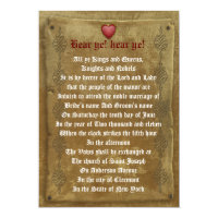 Medieval wedding  Invitation decree template