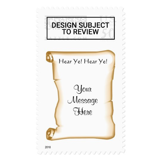 Medieval Wedding Invitation Scroll Invite Postage Zazzle Com