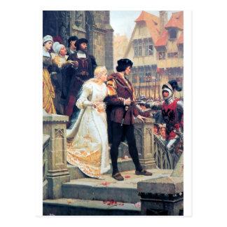 Medieval Wedding Romance Postcard