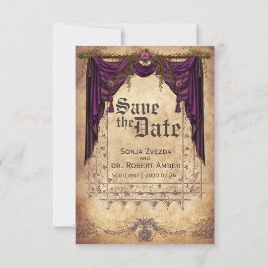 Medieval Wedding Invitation Wording: Medieval Wedding Save The Date Invitation