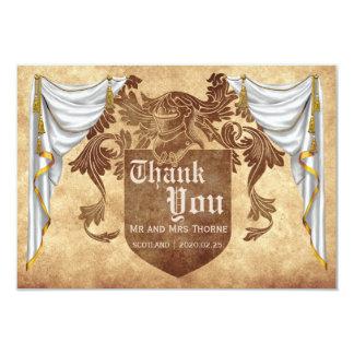 Medieval Wedding Thank You Card