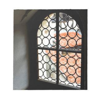Medieval window notepad