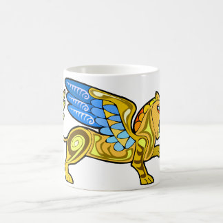 Medieval Winged Lion Gryphon Classic White Coffee Mug